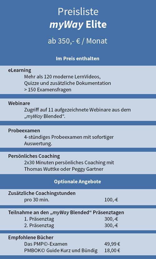 PMP-Vorbereitung myWay Elite | Wuttke & Team